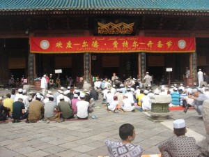 Eid prayers at the Great Mosque in Xi'an